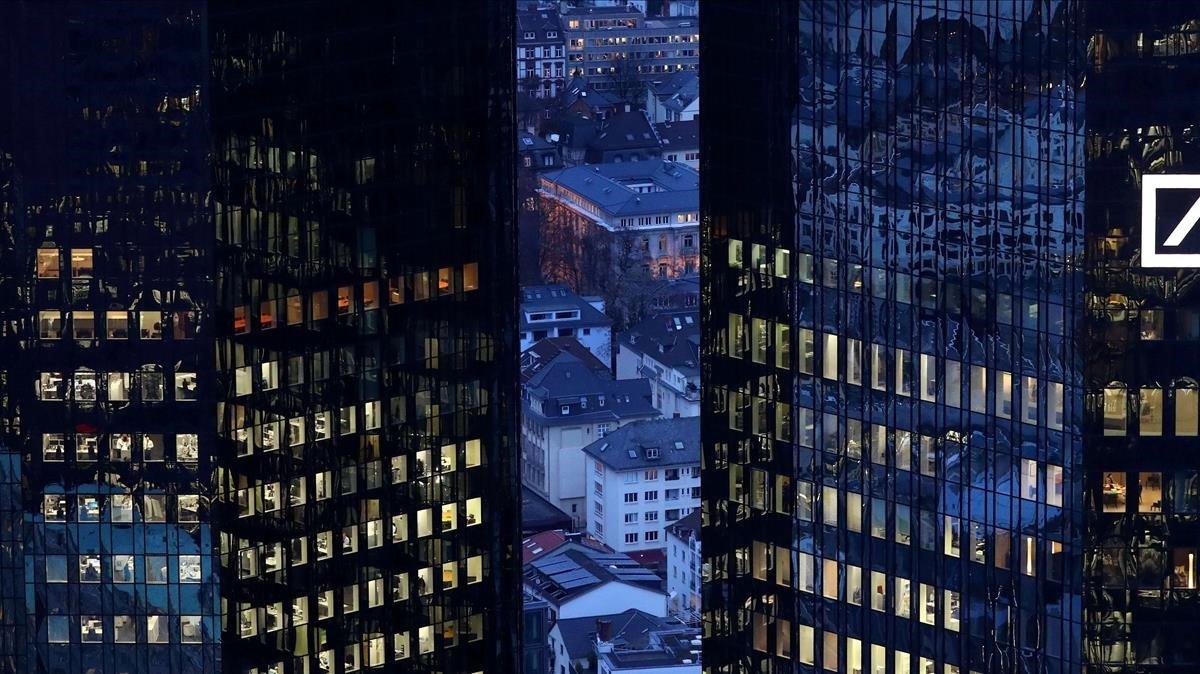 Sede del Deutsche Bank en Fráncfort.