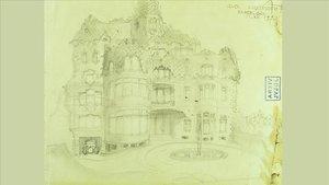 La primera versión de la Casa Planells, cuando Evelí Planells aún aspiraba a un casoplón unifamiliar.