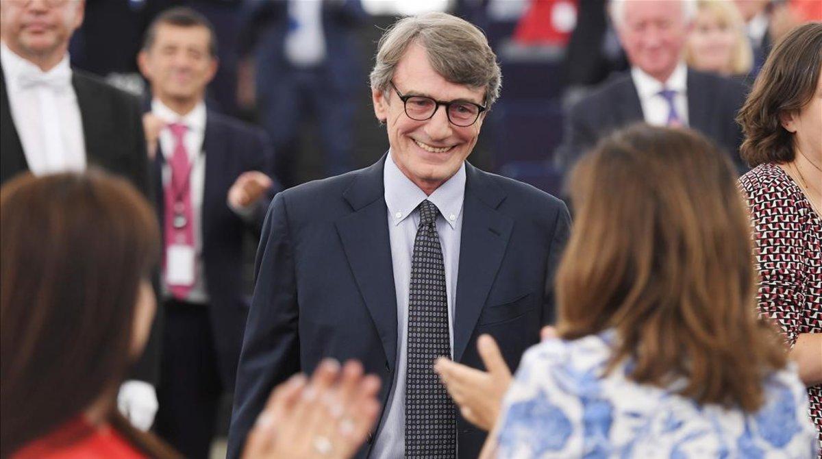L'Eurocambra elegeix el socialista David Sassoli nou president