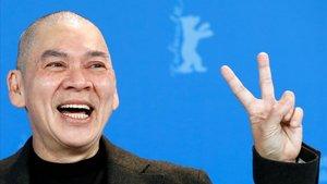 Tsai Ming-liang, en Berlín, este jueves.