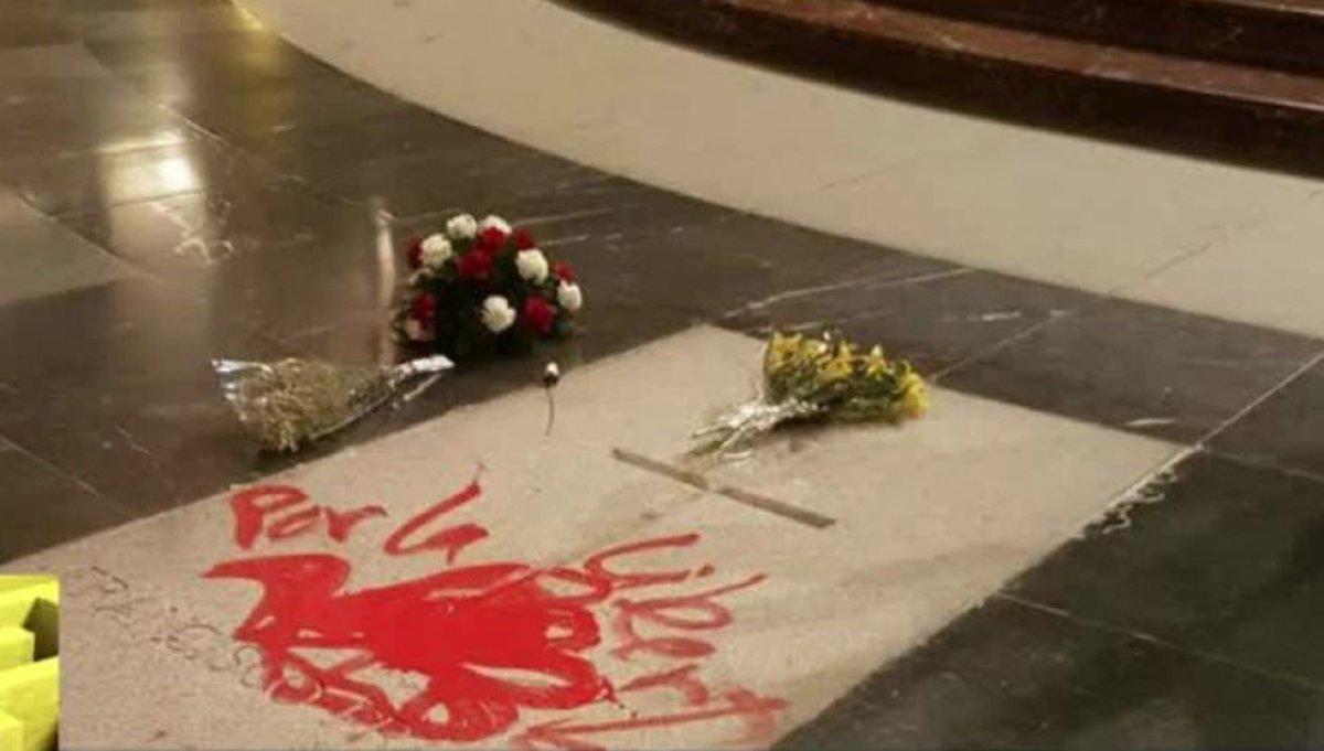 Profanada la tumba de Franco en el Valle de los Caídos | Vídeo