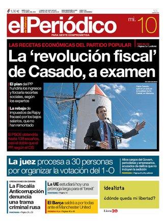La portada d'EL PERIÓDICO del 10 d'abril del 2019
