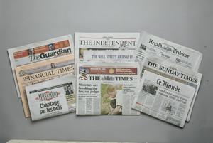 Capçaleres de la premsa internacional.