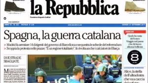 Las portadas de la prensa internacional sobre la jornada de este miércoles en Catalunya