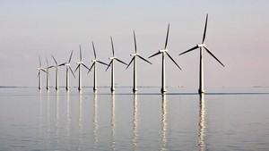 Parque eólico en la isla danesa de Samso.