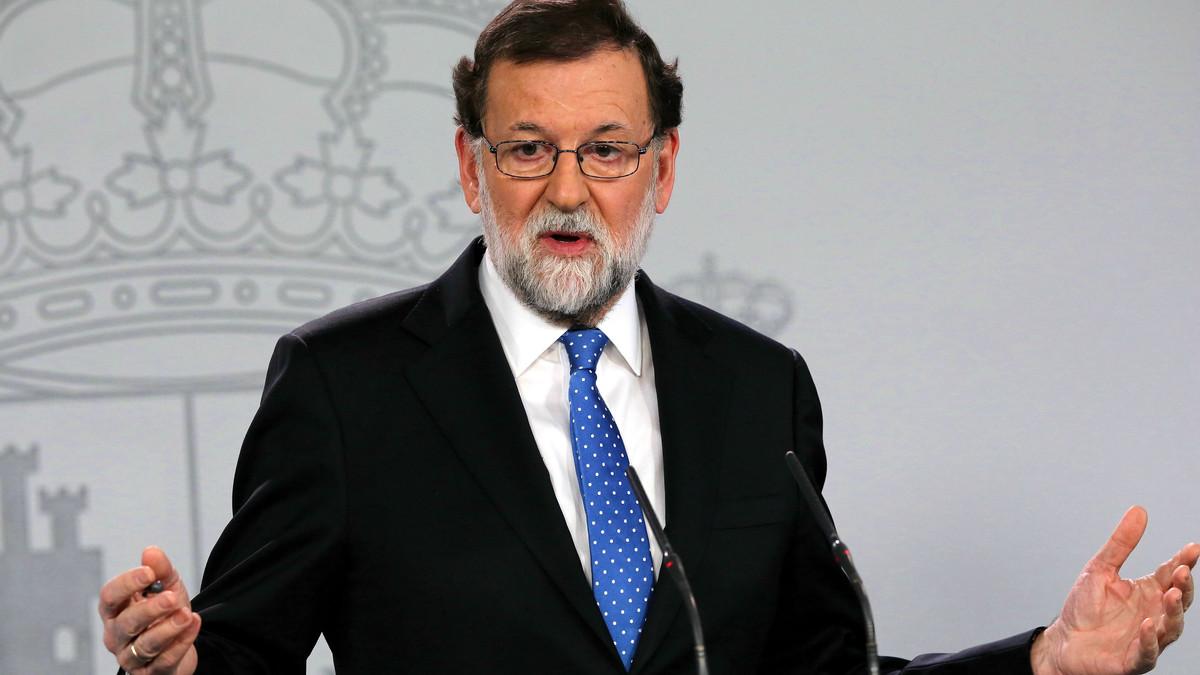 El presidente Rajoy, durante la comparecencia para valorar los resultados del 21-D.