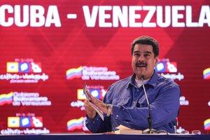 Venezuela s President Nicolas Maduro attends an event regarding the Cuba-Venezuela Comprehensive Agreement in CaracasVenezuelaMiraflores Palace Handout via REUTERS