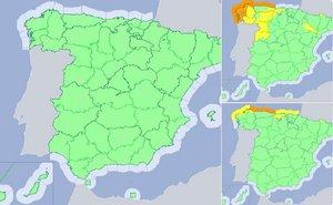 Las temperaturas diurnas estarán en ascenso en la mayor parte de la Península.