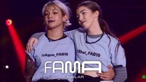 Agus y Shei en la pista de Fama a Bailar.