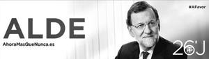 Anuncio electoral de Rajoy con el lema en euskera 'Alde', que significa largo, fuera de aquí.