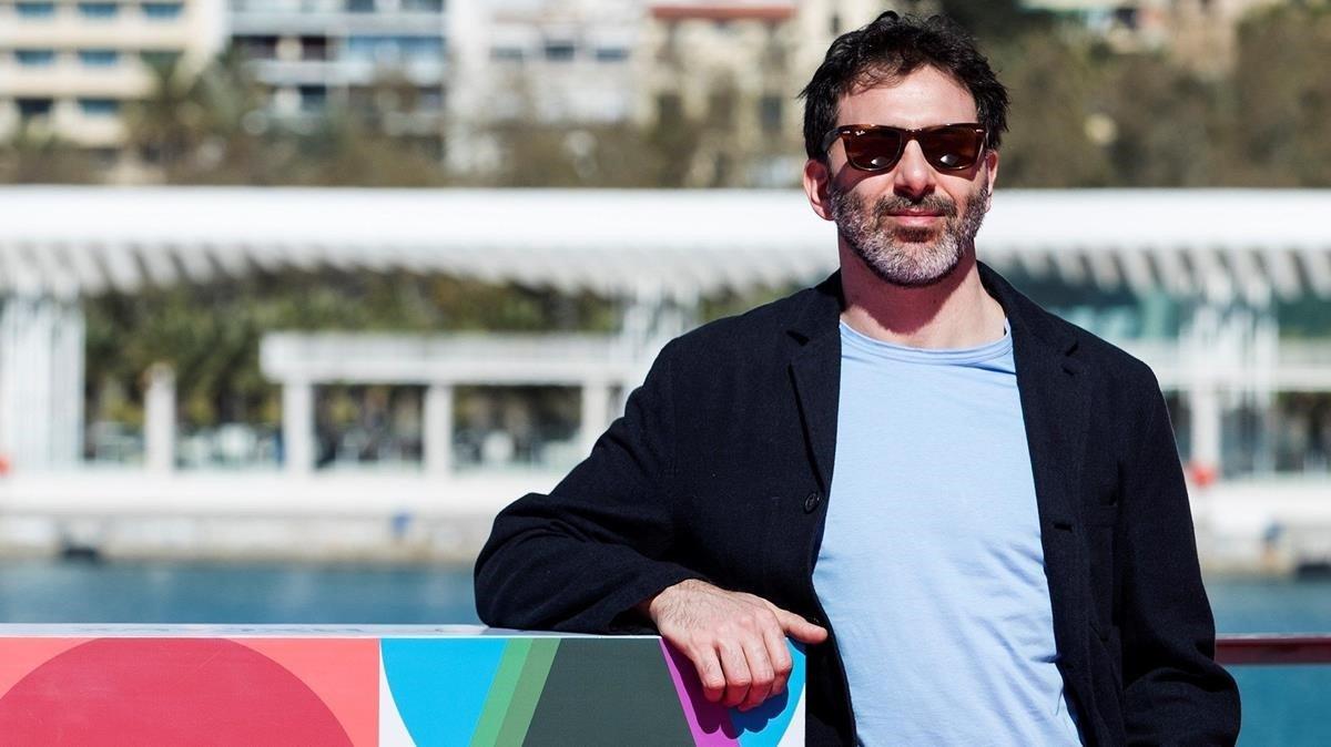 Alejo Flah, en la presentación de 'Taxi a Gibraltar' en el Festival de Málaga