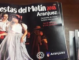 Programa de las Fiestas del Motín de Aranjuez.
