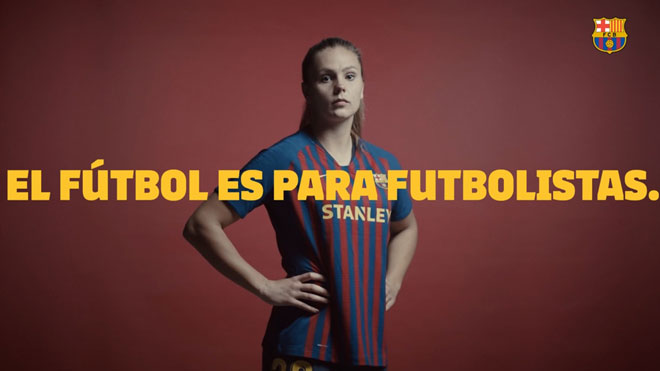 El Barça celebra el día de la mujer con un vídeo donde reivindica el fútbol para todos.