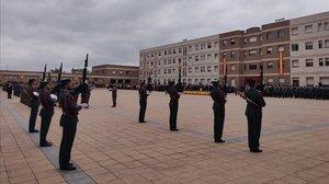 Caserna de la Guardia Civil en Sant Abdreu de la Barca, el pasado octubre.