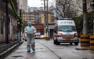 Personal médico de unhospital deWuhan,China