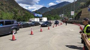 10 08 2019 Circulaci n por un solo carril tras la avalancha en Andorra SOCIEDAD ANDORRA INTERNACIONAL GOVERN D ANDORRA
