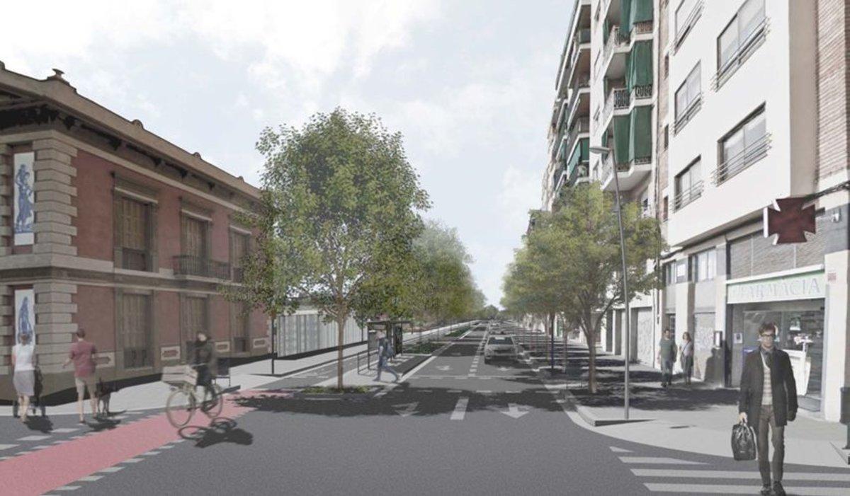 Simulación de la urbanización de Berenguer de Palou.