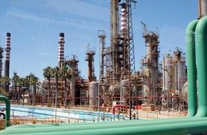 Centro de tratamiento de petróleo.