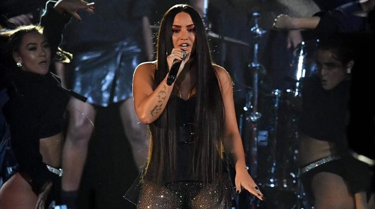 Demi Lovato, en los MTV Europa, el pasado mes de noviembre, en Londres