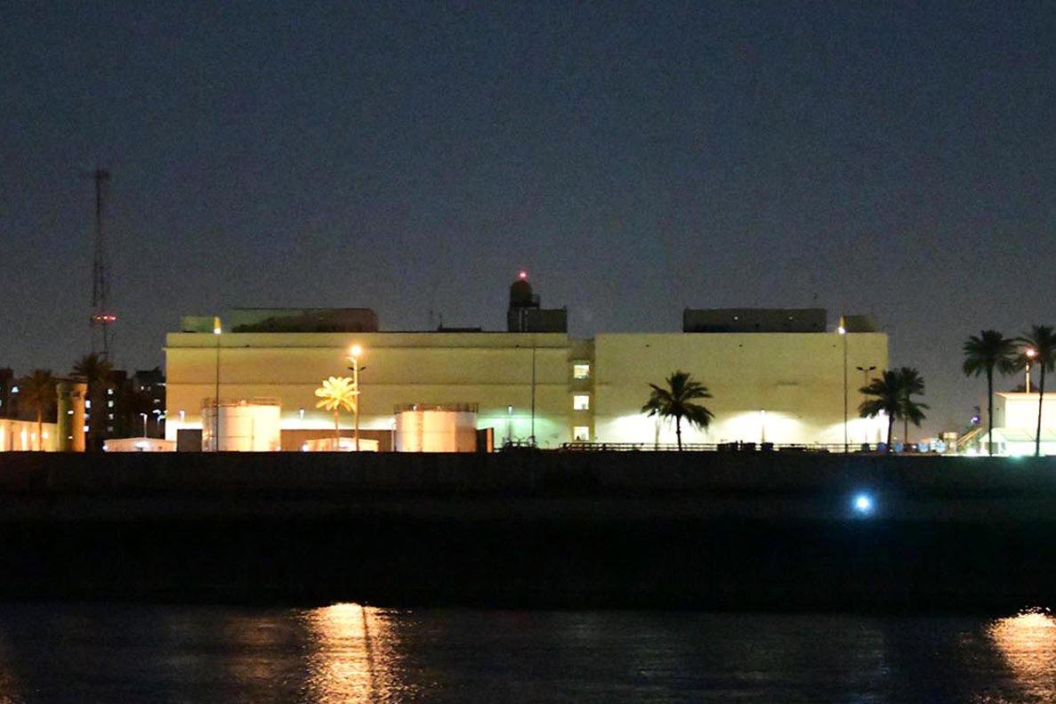 El edificio de la embajada de los EEUU en Bagdad. EFE