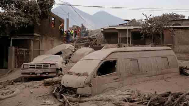 Al menos 65 muertos por el volcán de Fuego en Guatemala