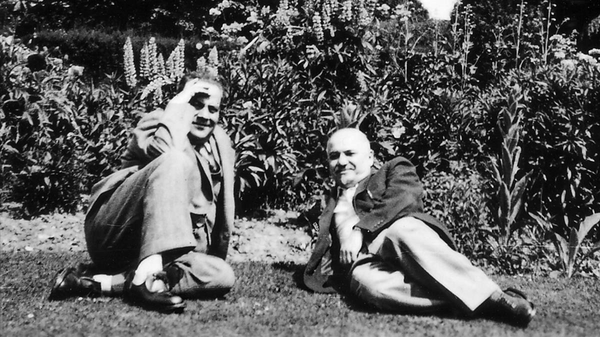 El embajador ruso Iván Maiski, con Juan Negrín en el exilio de Londres.