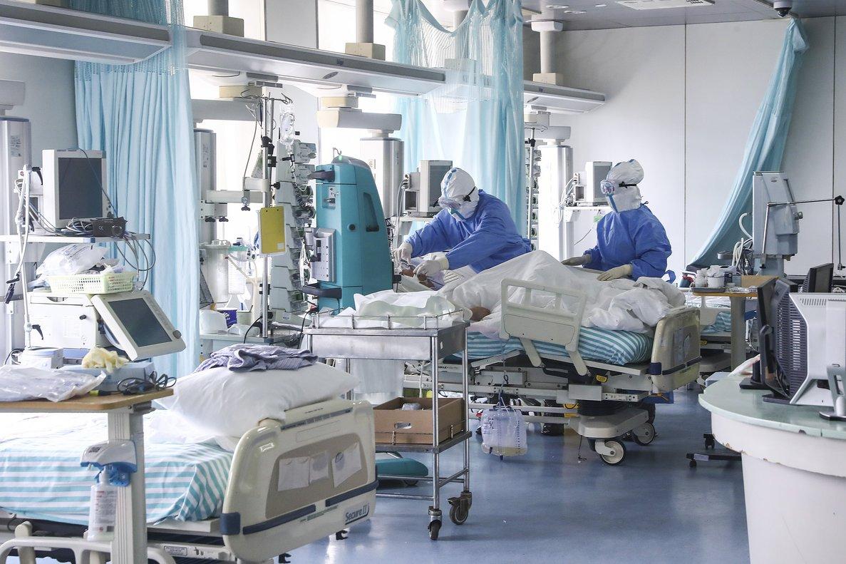 Enfermeras de un hospital de Beijing (China).