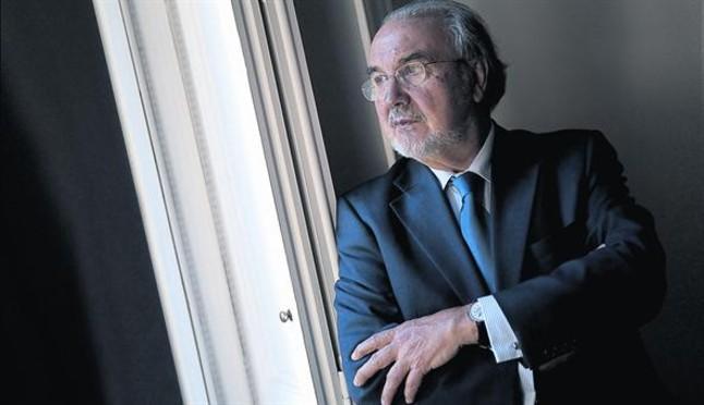 El exvicepresidente económico del Gobierno Pedro Solbes, en Madrid.