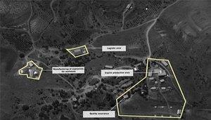 Imagen satelital de la supuesta fábrica de misiles deHezbolá.