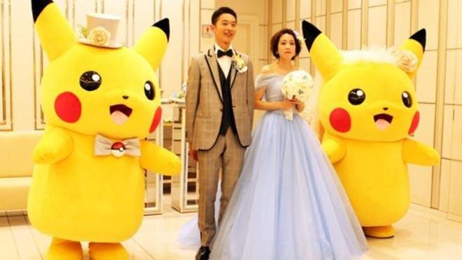 La fiebre Pokémon llega hasta el altar en Japón.