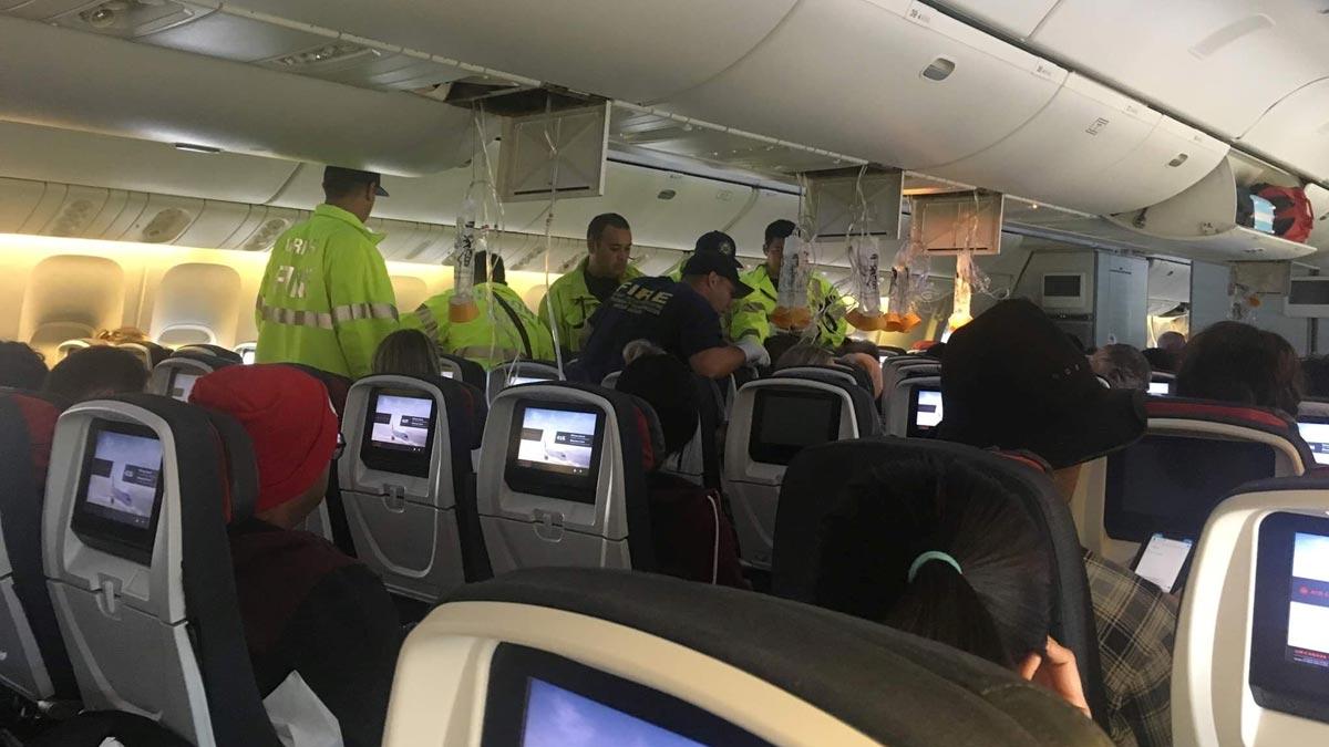 Fuertes turbulencias en un vuelo de Air Canada.