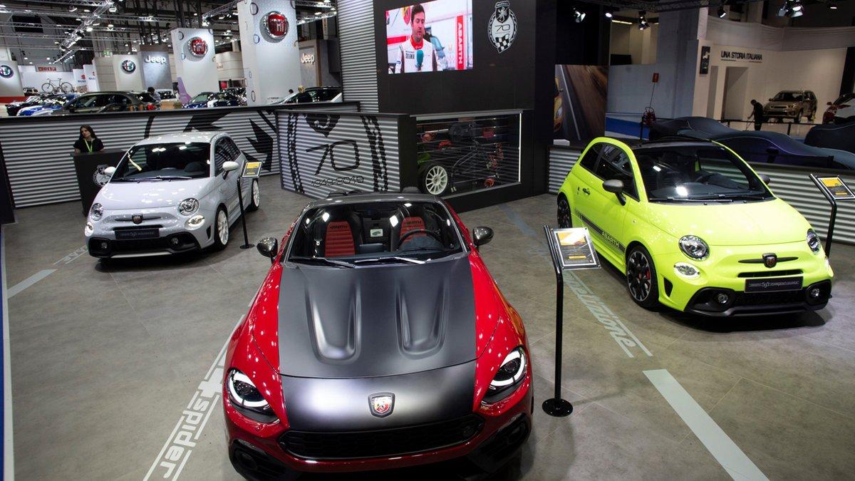 Gama Abarth en su stand del Automobile.