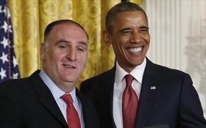 Barak Obama y José Andrés, en una imagen de archivo.