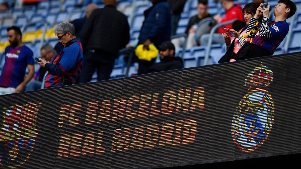 Imagen previa al Camp Nou.