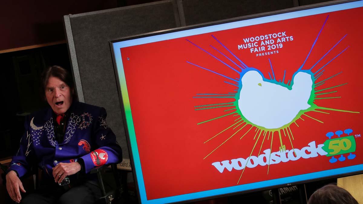 Jay-Z, Santana y The Killers actuarán en el 50 aniversario de Woodstock. En la foto, el cantanteJohn Fogerty durante la presentación del cartel del festival.