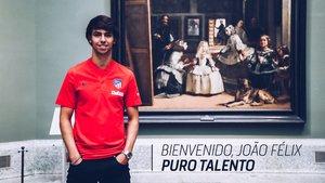 Joao Felix en el Museo del Prado de Madrid.