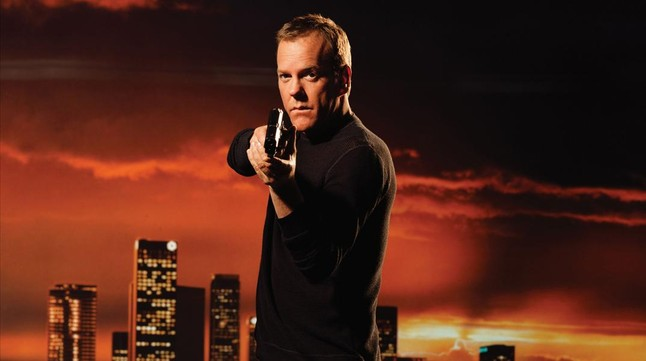 El actor Kiefer Sutherland en la serie 24.
