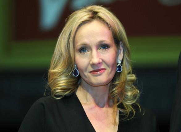 Lescriptora J.K. Rowling en la presentació duna de les seves novel·les.
