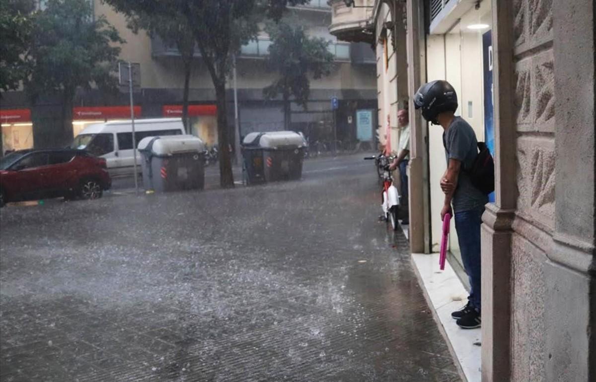 La tormenta de Barcelona del pasado viernes 17 de agosto.