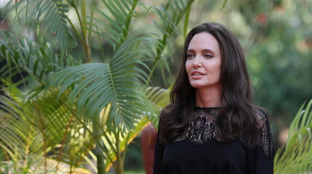 Angelina Jolie, el pasado sábado en Camboya.