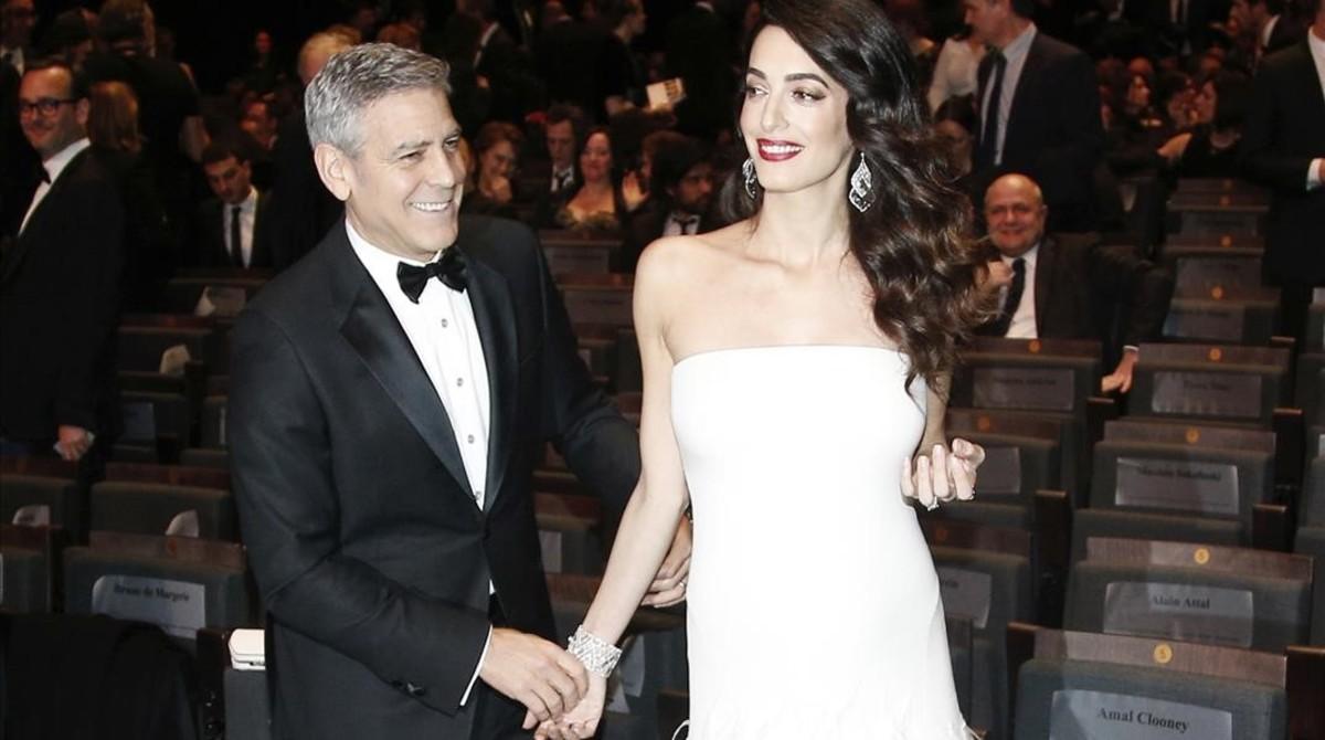 George y Amal Clooney.