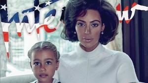 Kim Kardashian, con su hija, en la revista Interview
