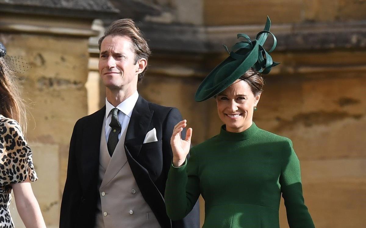 James Matthews y Pippa Middeleton, entre los invitados.