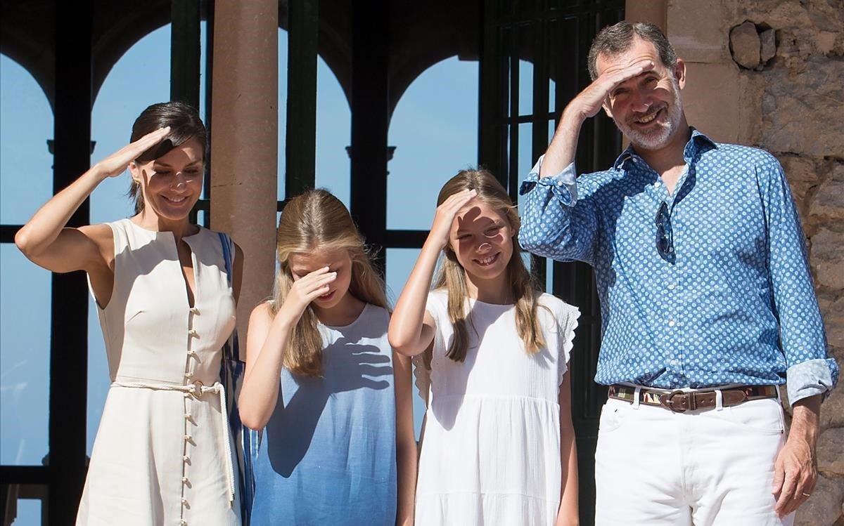 La Familia Real, en Son Marroig.