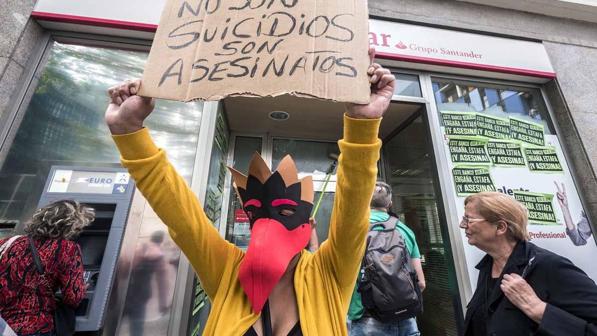 Manifestacion de la PAH en Barcelona