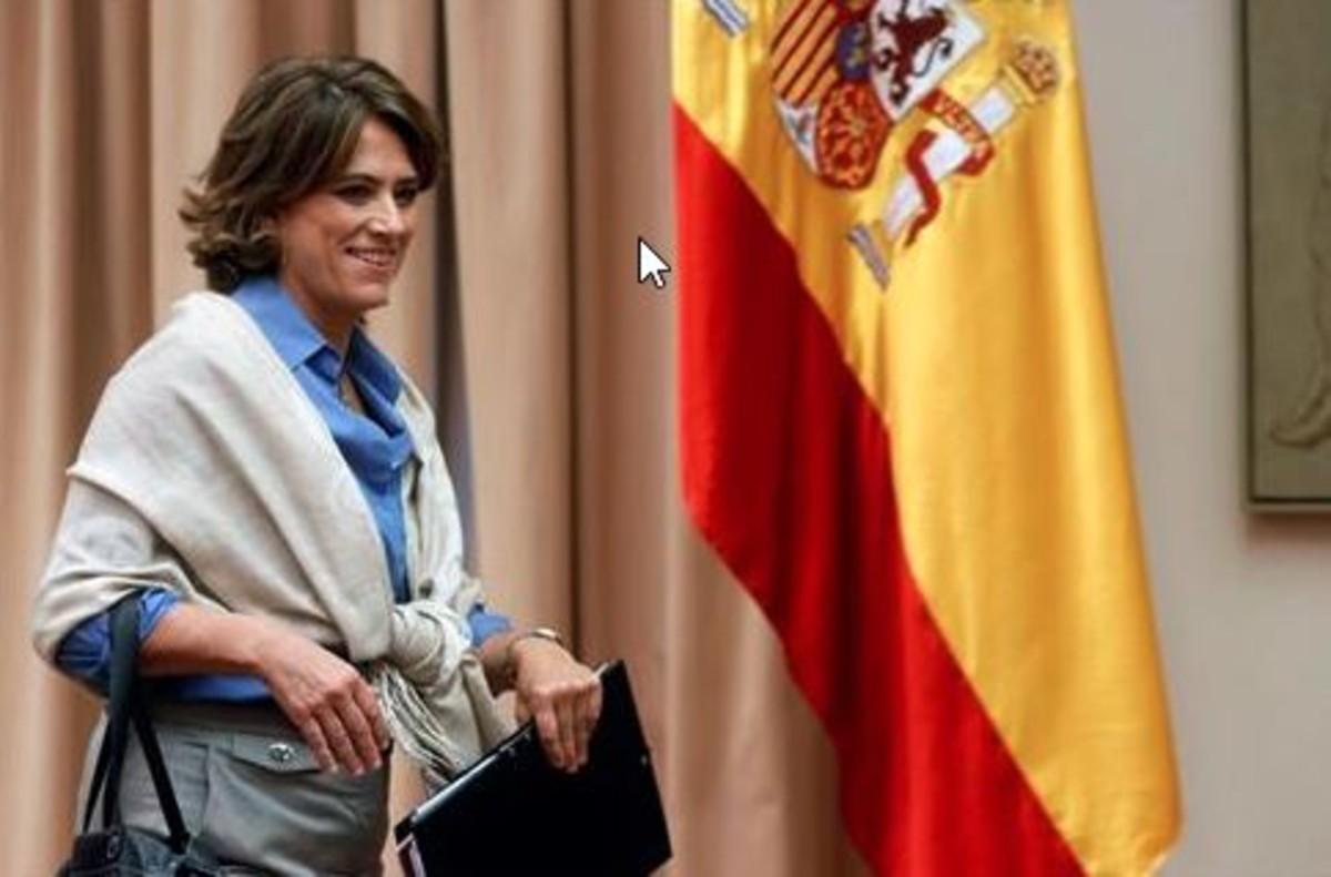La ministra Dolores Delgado, en la comisión.