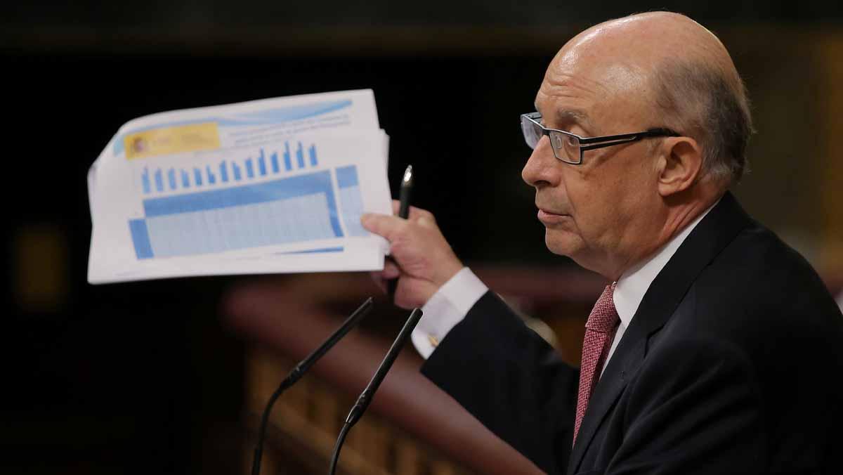 El ministro Cristobal Montoro en su respuesta a Albert Rivera en cuanto al uso de fondos públicos el 1-O.