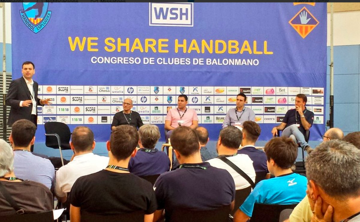 Momento de la primera edición del We Share Handball Congress de Esplugues