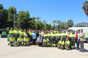 Nuevo equipo de trabajadores de Parques y Jardines de Santa Coloma.