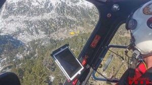 Operativo de rescate en el Parque Nacional de Aigüestortes.